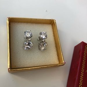 New in Box Kenneth Jay Lane CZ Drop Earrings